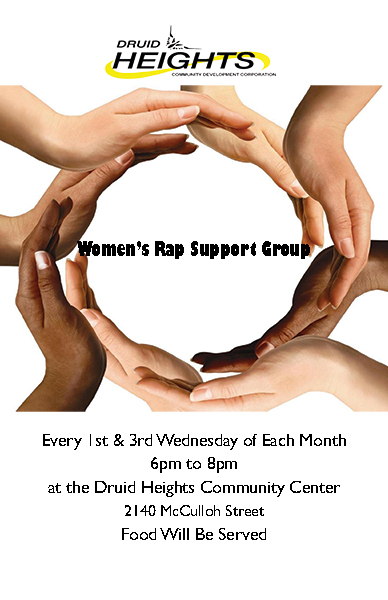 Women's Rap Support Group - 1st & 3rd Wed. of the month @ Druid Heights Community Center   | Baltimore | Maryland | United States