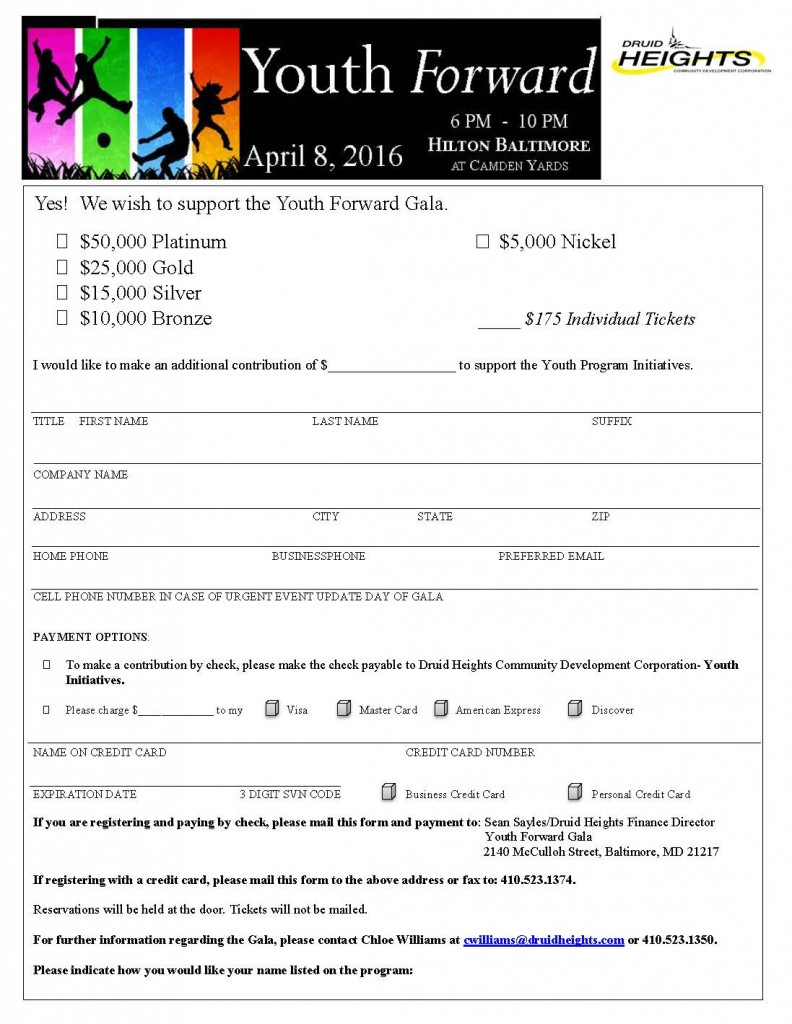 Form for Tickets